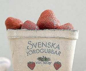 strawberries, summer, and swedish image