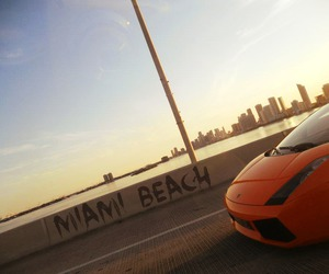 amazing, beach, and car image