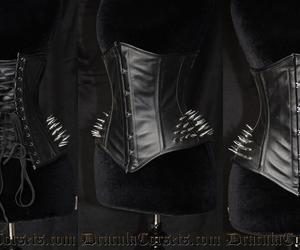 spikes, black, and corset image