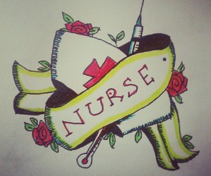 draw, drawing, and nurse image