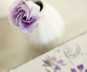 box, flowers, and lavender image