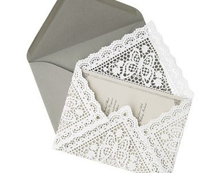 lace, envelope, and invitation image