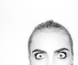 cara delevingne, model, and eyes image