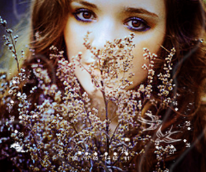 beautiful, flower, and woman image