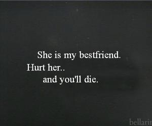 die, best friends, and hurt image