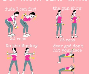 workout, fitness, and arms image