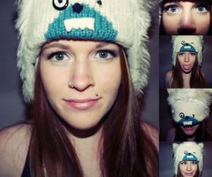 hat, Piercings, and red head image