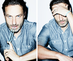 the walking dead, andrew lincoln, and rick grimes image