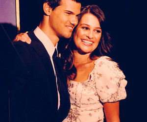 lea michele, Taylor Lautner, and couple image