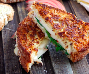 brie, cheese, and cheesy image