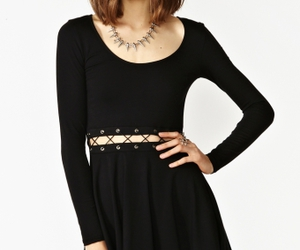 black, mini, and dress image