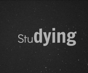 studying, dying, and school image