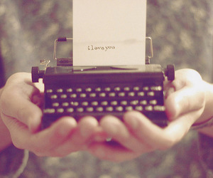 love, I Love You, and vintage image