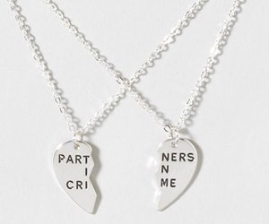 best friend, crime, and necklace image