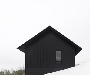 house, black, and architecture image