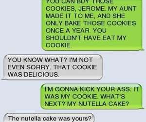 funny, nutella, and cookie image