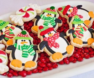 christmas, penguin, and Cookies image