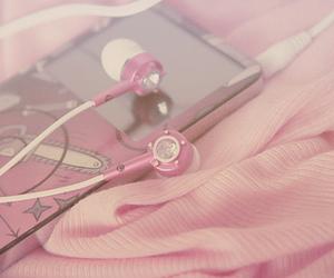 headphones, ipod, and pink image