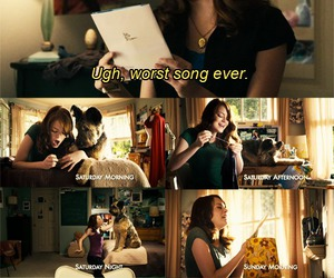 emma stone, text, and funny image