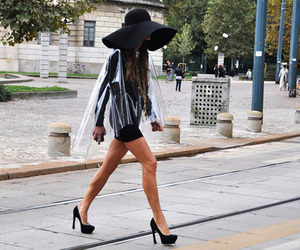 fashion, hat, and heels image