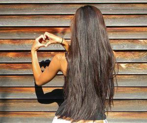 hair, girl, and heart image