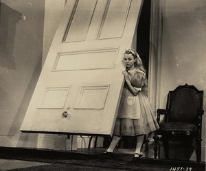 alice in wonderland, alice, and black and white image