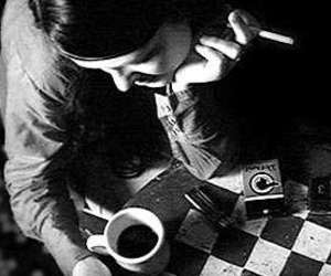 black and white, cigarette, and meg white image