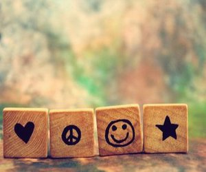 love, peace, and smile image