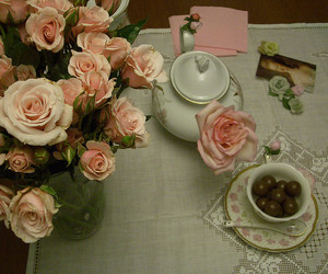 rose, pink, and tea image