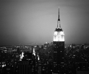light, black and white, and city image