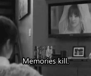 memories, the vow, and black and white image