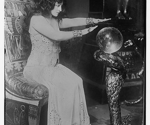 crystal ball, vintage, and witch image