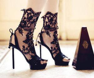 shoes, lace, and black image