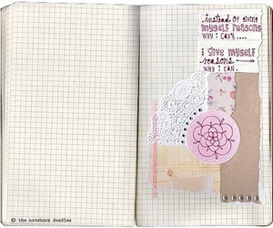 art journal, lace, and pretty image