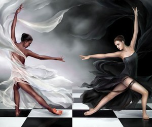 ballet, blck, and chess image