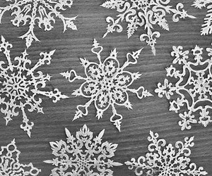 winter, snowflake, and white image