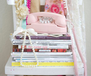 pink, book, and magazine image
