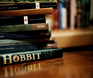 hobbit, books, and page image