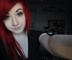 c0cainee, hair, and red image