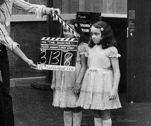 The Shining, black and white, and movie image