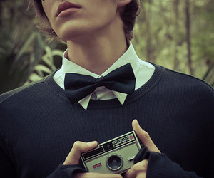 camera, boy, and bowtie image