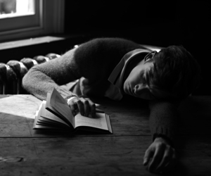black and white, book, and bw image