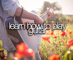 guitar, bucket list, and learn image