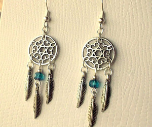 Dream, dreamcatcher, and earrings image