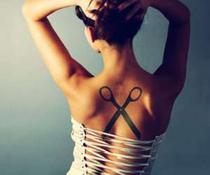 cool, dress, and tattoo image