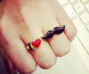 mustache, ring, and moustache image