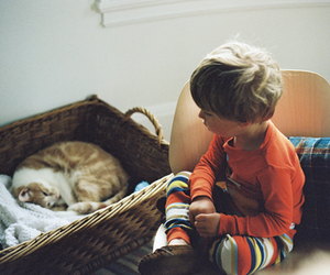 :3, boy, and cat image