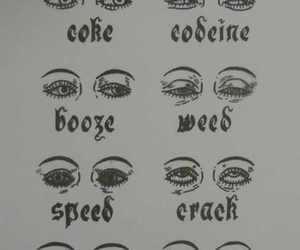 eyes, drugs, and weed image