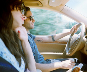 couple, car, and boy image