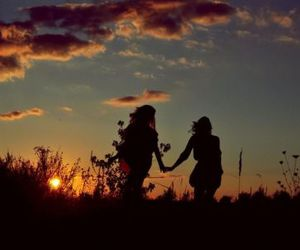 friendship, girl, and sun image